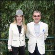 Cyrielle Clair et Michel Corbière à Roland-Garros.