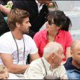 Nolwenn et Arnaud Clément, heureux, dans les gradins de Roland-Garros. 30/05/2010