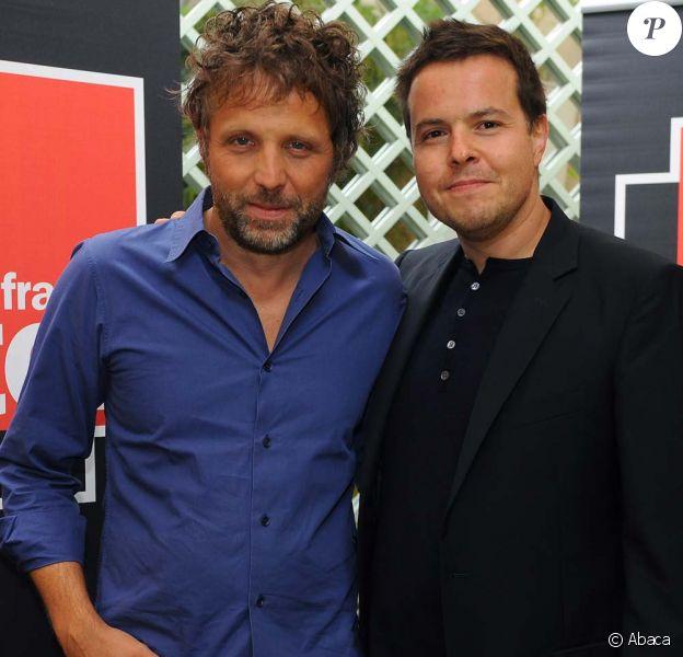 Stéphane Guillon et Nicolas Demorand, conférence de presse de rentrée de France Inter le 28 août 2009 !