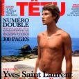 Yves Saint Laurent en couverture du magazine Têtu