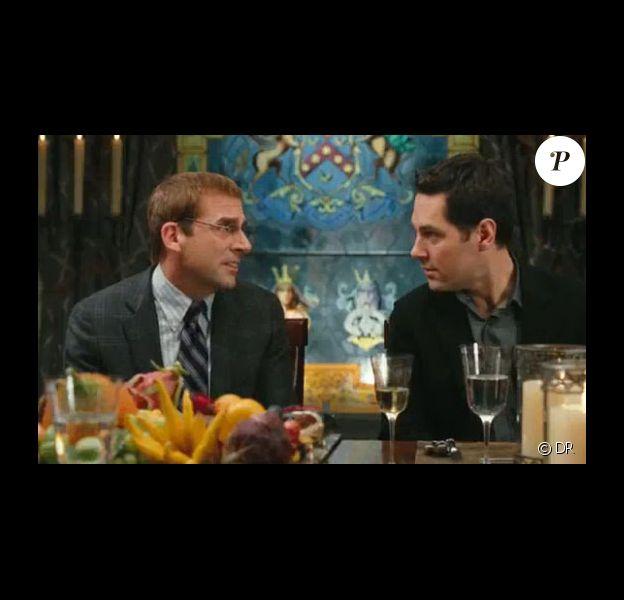 Steve Carell et Paul Rudd dans Dinner for Schmucks.