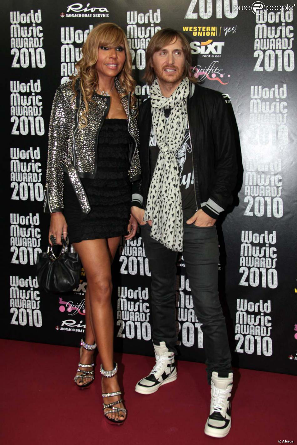 david et cathy guetta aux world music awards monaco le 18 mai 2010 purepeople. Black Bedroom Furniture Sets. Home Design Ideas