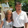 David et Valérie Douillet à Roland-Garros, le 4 juin 2010
