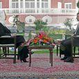 Laurence Ferrari face au président iranien Mahmoud Ahmadinejad à Téhéran lors d'un entretien exclusif.