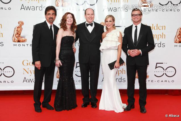Joe Mantegna, Dana Delany, Prince Albert, Julie Benz et Simon Baker (10 juin 2010 à Monte-Carlo)