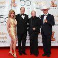 Donna Mills, Prince Albert, Barbara Bain et Larry Hagman (10 juin 2010 à Monte-Carlo)