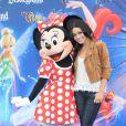 Vanessa Hudgens (sans Zac Efron !), lors de l'inauguration du nouveau spectacle musical World of Colour, au parc californien Disneyland, le jeudi 10 juin.