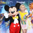 Chelsea Staub, lors de l'inauguration du nouveau spectacle musical World of Colour, au parc californien Disneyland, le jeudi 10 juin.