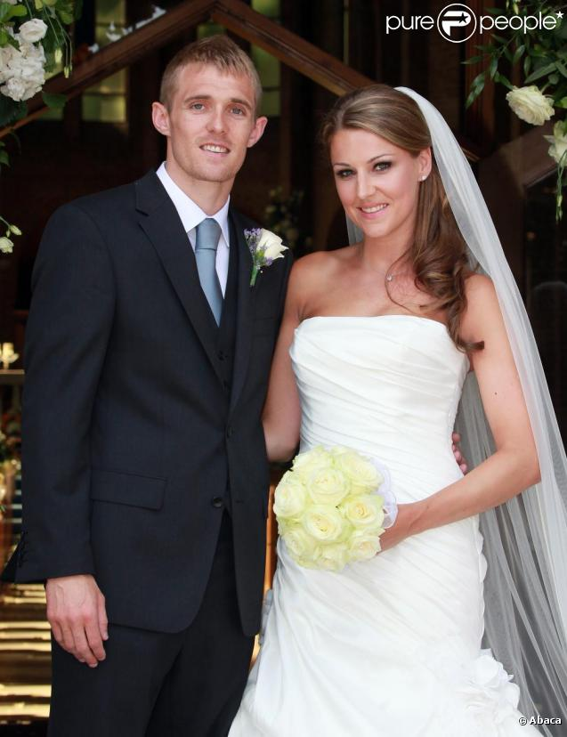 Darren Fletcher et son épouse Hayley Grice se sont mariés en l'église St-Ambroise de Manchester, samedi 12 juin.