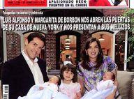 Louis de Bourbon et sa belle Maria Margarita présentent leurs jumeaux Louis et Alphonse, âgés de quelques jours !