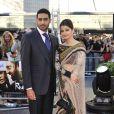 Aishwarya Rai et son mari Abhishek Bachchan lors du British Film Institute à Londres, le 16 juin 2010
