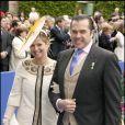 Charles-Philippe d'Orléans, duc d'Anjou, ici avec son épouse Diana, comparaîtra devant le tribunal correctionnel mercrei 23 juin 2010