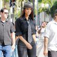 Tyra Banks en tournage dans Beverly Hills le 24 juin 2010 à Los Angeles