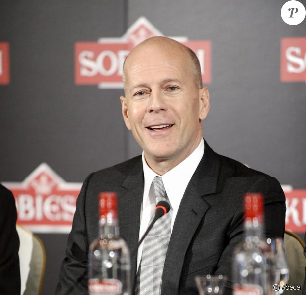 Bruce Willis a fait la promotion de la vodka Sobieski à Madrid le 21 juin 2010