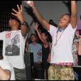 Pharrell Williams en showcase avec N.E.R.D. au VIP Room Theater de Jean-Roch, à Paris, le 25 juin 2010.