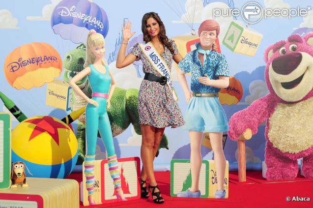 Malika Ménard à l'occasion de l'avant-première de  Toy Story 3 , au Gaumont du Disney Village, à Marne-la-Vallée, le 26 juin 2010.