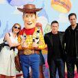 Frédérique Bel, Benoît Magimel et Grand Corps Malade à l'occasion de l'avant-première de  Toy Story 3 , au Gaumont du Disney Village, à Marne-la-Vallée, le 26 juin 2010.