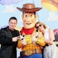 Benoît Magimel et Frédérique Bel à l'occasion de l'avant-première de  Toy Story 3 , au Gaumont du Disney Village, à Marne-la-Vallée, le 26 juin 2010.