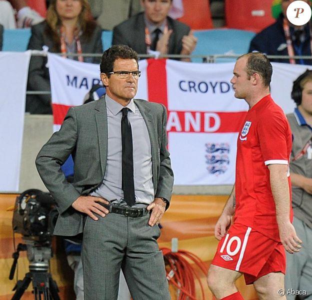 Le sélectionneur Fabio Capello, Wayne Rooney et ses partenaires n'ont rien pu faire façe à l'Allemagne et après une défaite 4 à 1 sont éliminés de la Coupe du Monde