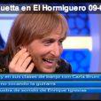 David Guetta dans l'émission hispanique  El Hermiguero