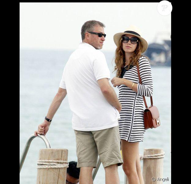 Roman Abramovich et sa fiancée Dasha Zhukova au Club 55 à Saint Tropez, le 29 juin 2010