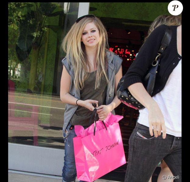 La chanteuse canadienne Avril Lavigne