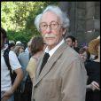 """""""Jean Rochefort lors des obsèques de Laurent Terzieff en l'église de Saint-Germain-des-Prés à Paris le 7 juillet 2010"""""""