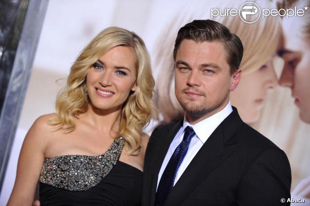 Leonardo dicaprio pose avec kate winslet lors de l 39 avant premi re des noces rebelles los - 30 ans de mariage noce de quoi ...