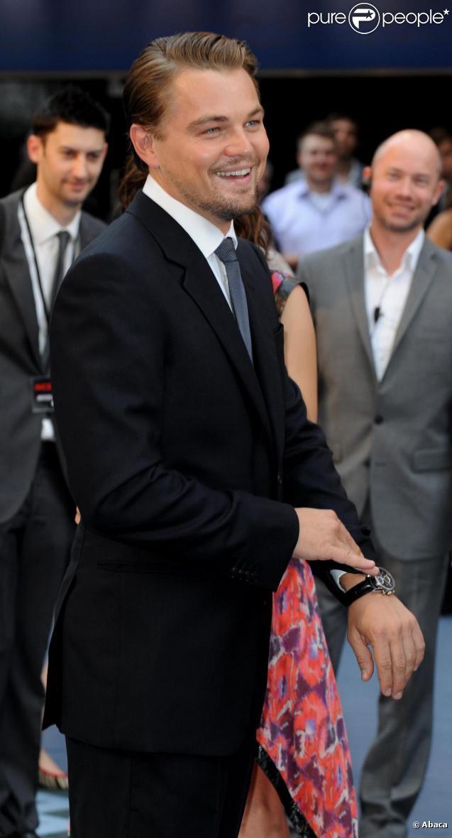 Leonardo DiCaprio à Londres en juillet 2010
