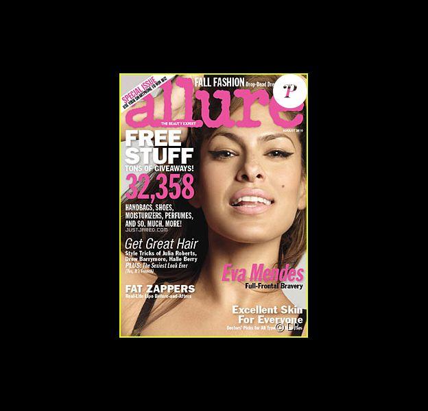 L'actrice américaine Eva Mendes en couverture du magazine Allure
