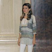 Letizia d'Espagne : toujours aussi jolie... avec ou sans talons !