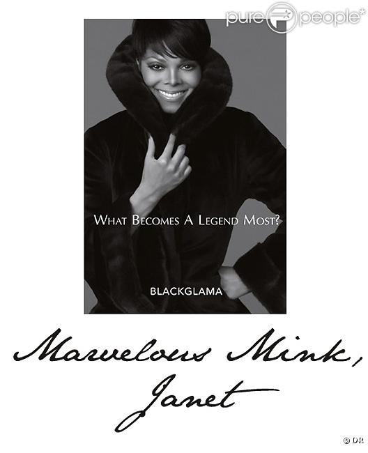 Janet Jackson pour Blackglama