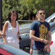 Après le triomphe de la Roja en Coupe du monde, David Villa, meilleur buteur de l'épreuve, a retrouvé sa famille dans sa ville natale de Tuilla (photo : le 15 juillet 2010)
