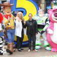 La productrice Darla Anderson et le réalisateur Lee Unkrich à l'occasion de l'avant-première de  Toy Story 3 , à l'Empire Leicester Square de Londres, le 18 juillet 2010.