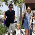 L'actrice américaine Jessica Alba avec son mari Cash Warren et sa fille Honor