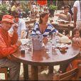 Louis de Funès en vacances à Saint-Tropez en 1982, Julia, présente sur la photo, avait alors 3 ans !