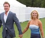 Geri Halliwell et Henry Beckwith lors du match polo Cartier International Polo au Polo Guards Club à Engham en Angleterre le 25 juillet 2010