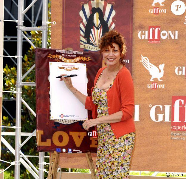 Susan Sarandon lors du festival du film de Giffoni en Italie le 24 juillet 2010