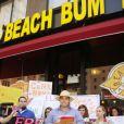 Manifestation à New York en faveur de la libération de Lindsay Lohan le 27 juillet 2010