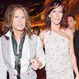 Steven Tyler et sa compagne Erin Brady au Studio 54 du MGM, à Las Vegas, le 31 juillet 2010.