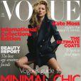Kate Moss en couverture du Vogue UK pour le mois de septembre 2010