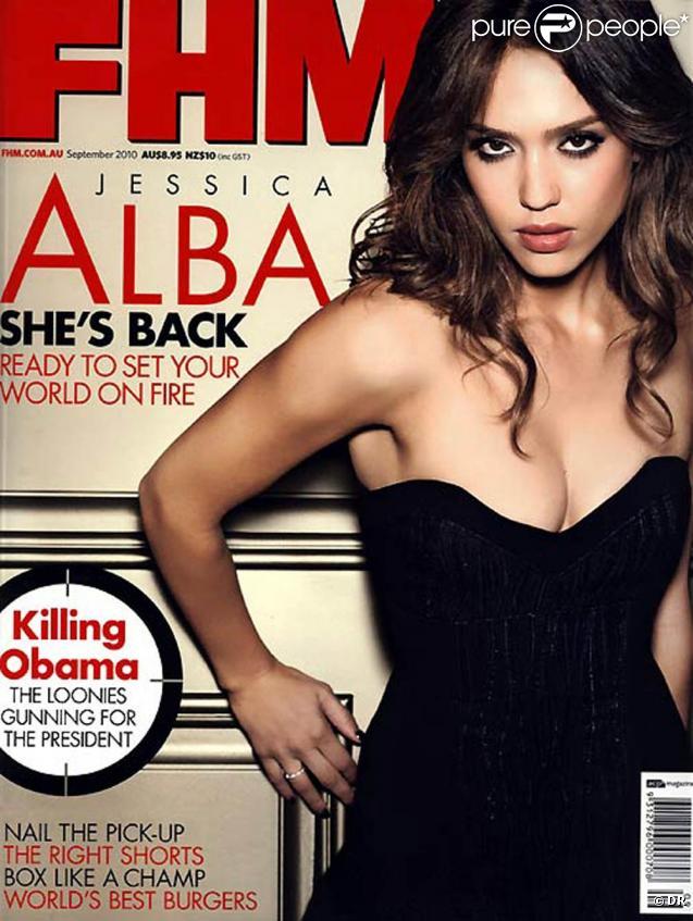 Jessica Alba en couverture de l'édition de septembre 2010 du magazine  FHM .