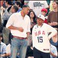 Le réalisateur Spike Lee lors du match de basket opposant les Etats-Unis à la France à New York le 15 août 2010