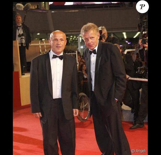 Olivier et Patrick Poivre d'Arvor à Cannes en mai 2009