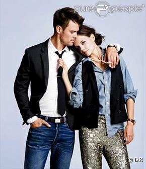 Katie Holmes et Josh Duhamel dans le catalogue J. Crew