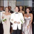 Stéphanie de Monaco au côté de son frère Albert II et de sa fiancée Charlene Wittstock