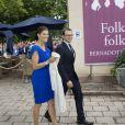 Le couple princier fraîchement marié, Victoria de Suède et Daniel Westling, lors de la célébration du bicentenaire de la session du Parlement de 1810 à Orebro en Suède le 21 août 2010