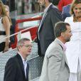 Le prince Felipe d'Espagne lors d'un match de basket qui opposait l'équipe espagnole à l'équipe américaine, à Madrid le 22 août 2010