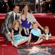 Mark Wahlberg son épouse Rhea et leurs enfants Ella, 7 ans, Michael, 4 ans,  Brendan, 2 ans, et la petite dernière Grace - née en janvier 2010