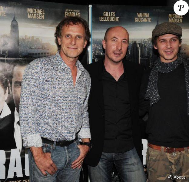 Charles Berling, Fabrice Genestal et Joffrey Verbruggen à la première de Krach, à l'UGC Cine Bercy, à Paris